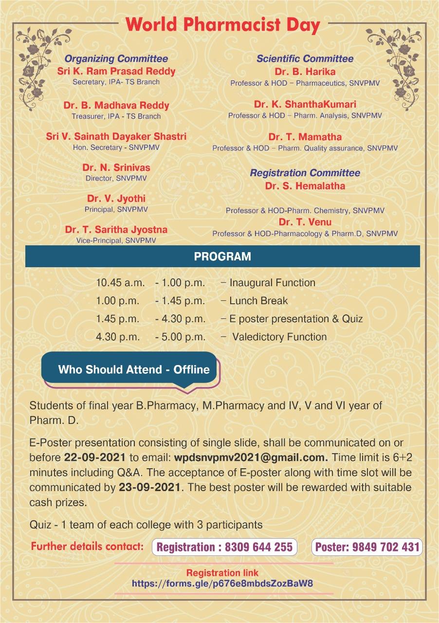 WORLD PHARMACIST DAY-25-09-2021