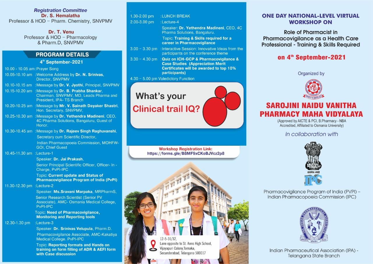 Webinar on 4th September